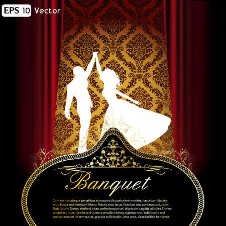 Elegant dance and ball flyer Vector