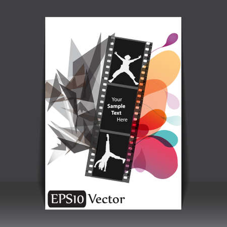 Abstract Filmstrip flyer Vector