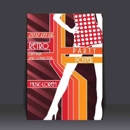 Colorful Retro Flyer Stock Vector - 14424196
