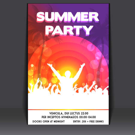 tree disc: Summer Beach Party Flyer - Vector Design