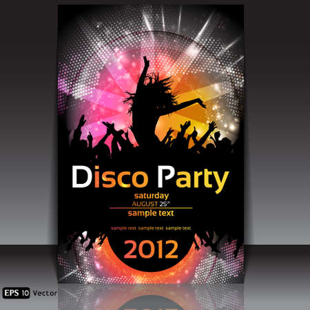 Disco Party Background  Vector Illustration Vector
