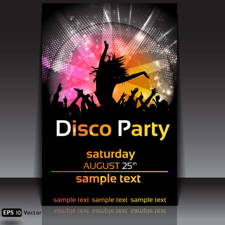 Disco Party Background  Vector Illustration Stock Vector - 14552341
