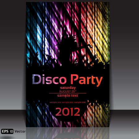 Dancing Disco Party Vector Background Stock Vector - 14552340