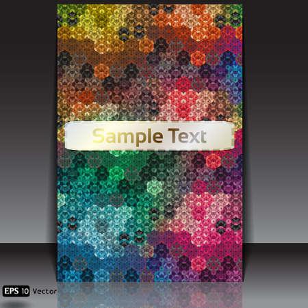 perplex: hexagon kaleidoscope optical illusion flyer