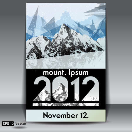 sierra snow: snow capped mountains event flyer