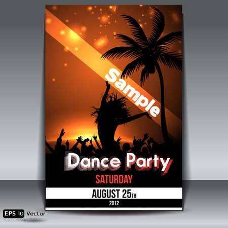daybreak: Summer Sunset Beach Party Flyer con Dancing J�venes