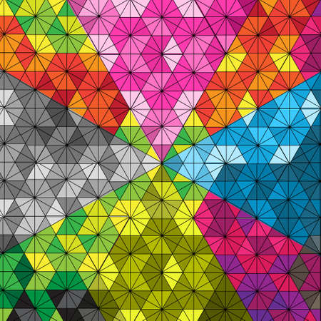 interlock: hexagon kaleidoscope pattern optical illusion