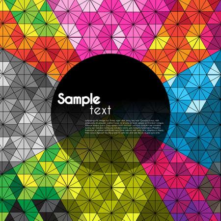 illusion optique kaléidoscope motif hexagonal