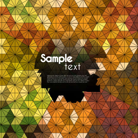 hexagon kaleidoscope pattern optical illusion Vector