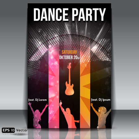 Disco Party Background  Vector Illustration Stock Vector - 14959977
