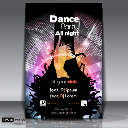 night club: Disco Party Background  Vector Illustration