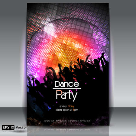 Disco Party Background  Vector Illustration Stock Vector - 15651095