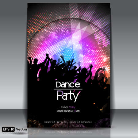 Disco Party Achtergrond Stock Illustratie
