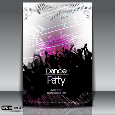 club flyer: Disco Party Background
