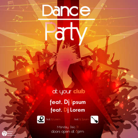 Disco Party Background  Vector Illustration Stock Vector - 15903500