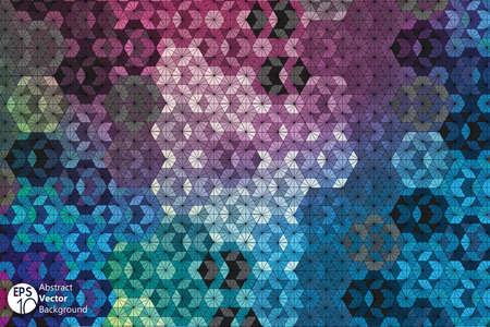 shards: Hexagon kaleidoscope optical illusion