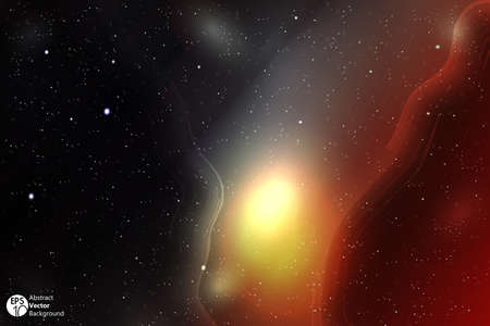 orion: Space background with nebula