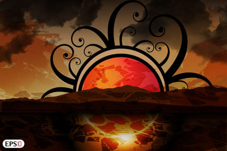 Abstract sunset background Stock Vector - 17995512