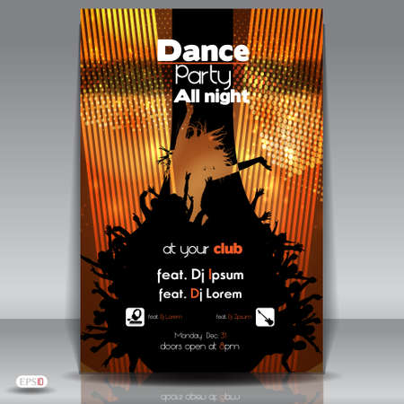 funky music: Dance Party Background  Vector Illustration