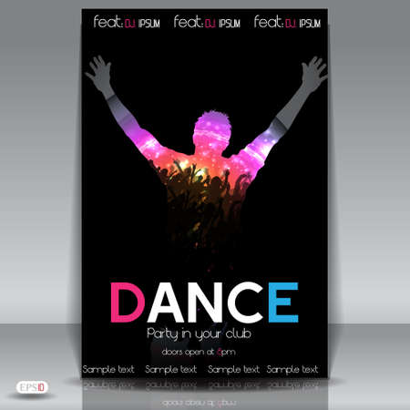 Dance Party Background  Vector Illustration Stock Vector - 17995511