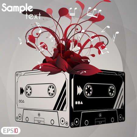 remix: Audiocassette  illustration