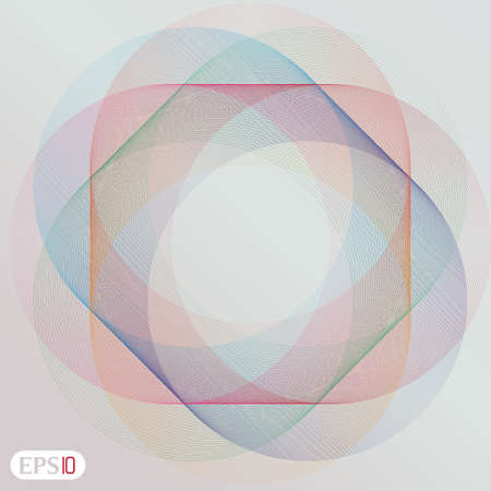 Retro styled interlocking circles in spectrum color Stock Vector - 18296648