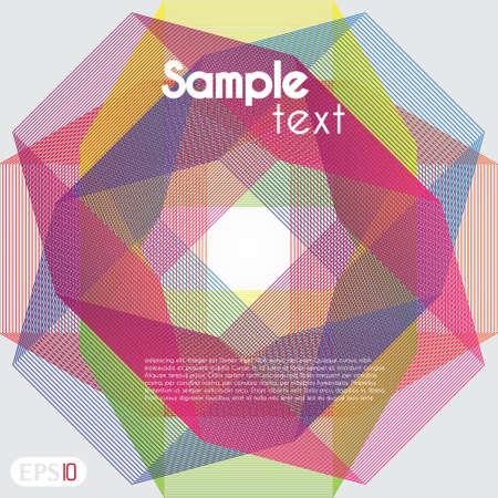 interlocking: Retro styled interlocking hexagons in spectrum color