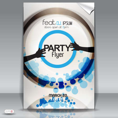 Modern party flyer with styled circles