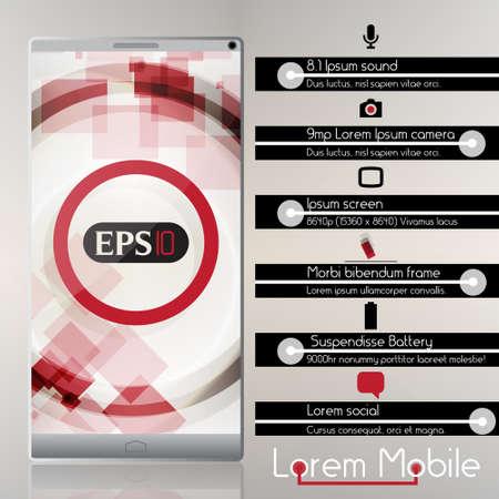 Smart Phone Infographic  - Vector Design Concept Stock Vector - 18641464