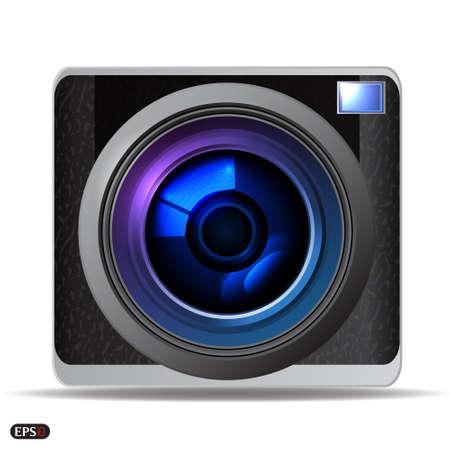 zoom icon: Retro camera Illustration