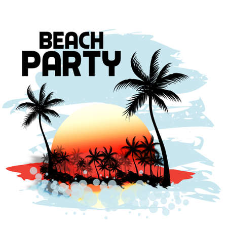 surf silhouettes: Tramonto alla spiaggia tropicale