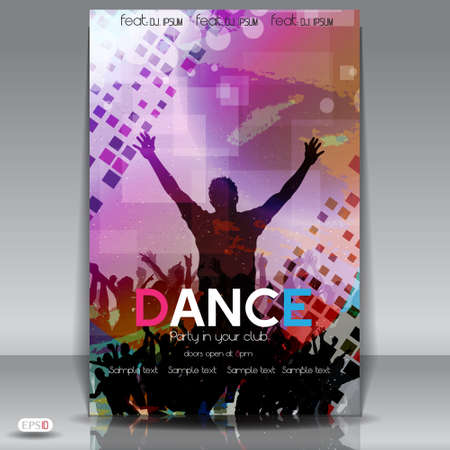 Abstract Party Flyer design template