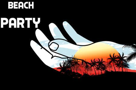 Beach Party  flyer design template Stock Vector - 19090833