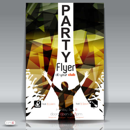 rap music:  Party Flyer design template Illustration