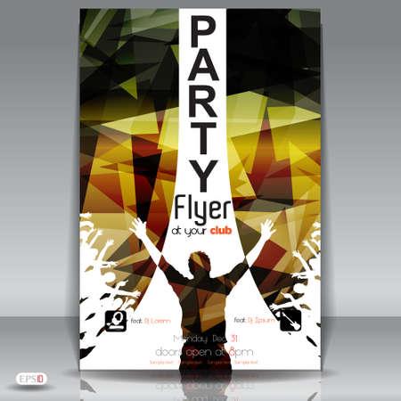 rapero: Party Flyer plantilla de dise�o Ilustraci�n