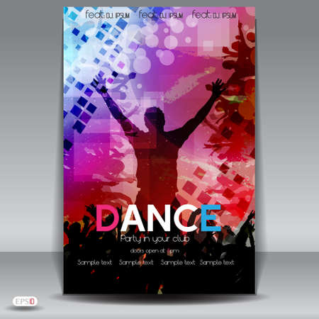 Party Flyer design template  Vector Illustration