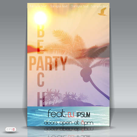 summer party: Beach Summer Party Flyer