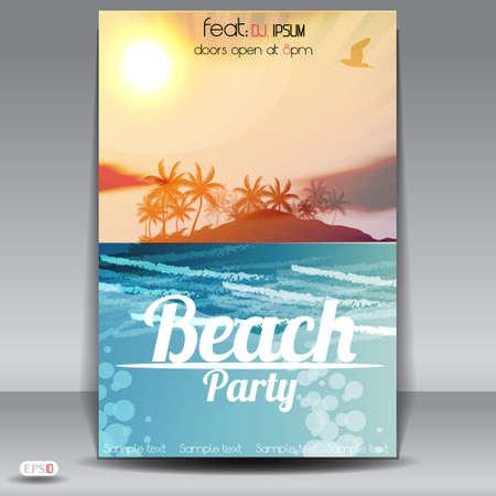 beach happy new year: Summer Beach Party Flyer