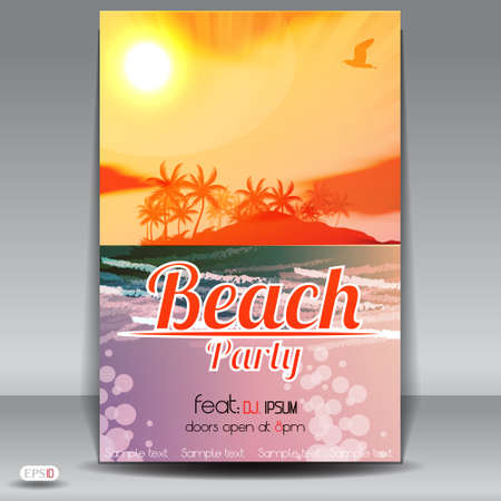 Summer Beach Party Flyer Stock Vector - 19461155
