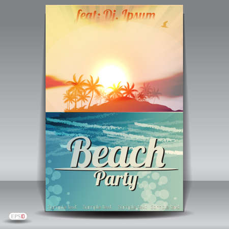 beach party people: Summer Beach Party Flyer