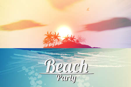 Summer Beach Party Flyer  Stock Vector - 19461146