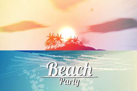 music flyer: Summer Beach Party Flyer