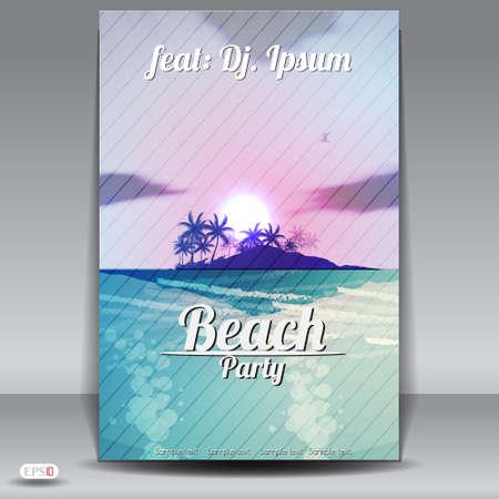 музыка: Летний Beach Party Flyer