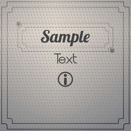 abstract dotted metal background design  with a vintage typography sign Vector