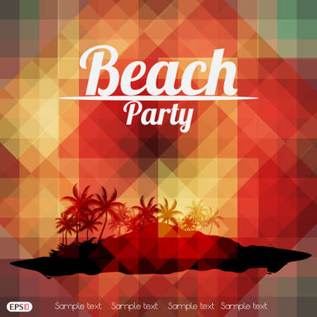 beachparty: Sommer-Strand-Party-Flyer Druck