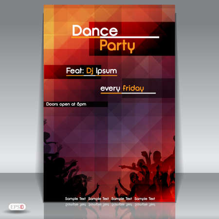 Disco Party Background  Illustration Vector