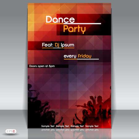 klubok: Disco party háttér illusztráció Illusztráció