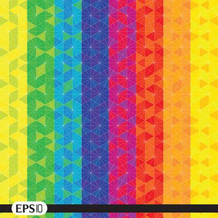 colori: esagono caleidoscopio illusione ottica Vettoriali
