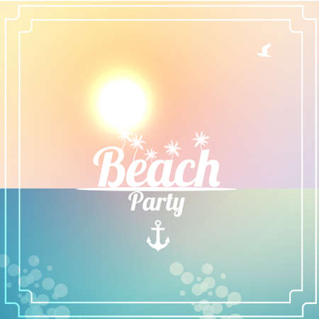 interlock: Summer Beach Party Flyer Design