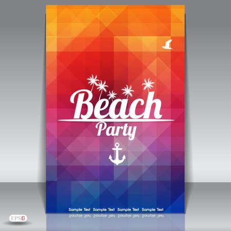 shards: Summer Beach Party Flyer Design